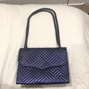 Rebecca Minkoff Purple Metallic Chain Handbag